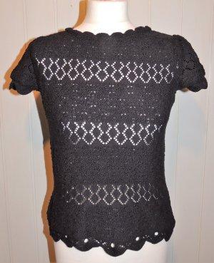 3suisses Short Sleeve Sweater black cotton