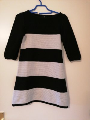 H&M Sweater Dress white-black