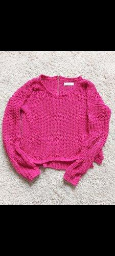 Abercrombie & Fitch Jersey de ganchillo rosa-magenta