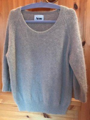 Acne Maglione lavorato a maglia color cammello Lana d'angora