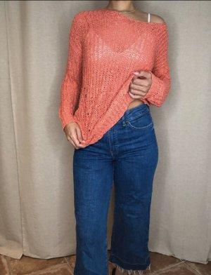Gina Tricot Knitted Sweater bright red-salmon