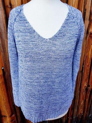 Strickpullover von Gina Tricot Neu Größe XS/34 blau weiss gemustert