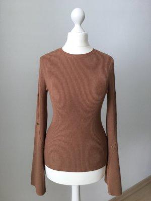 Miss Selfridge Pull tricoté cognac-bronze