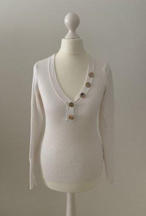 Morgan Maglione lavorato a maglia bianco sporco