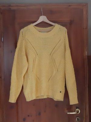 Strickpullover von Nümph, Gr. L 40, Gelb, gestrickt, Pullover, Shirt