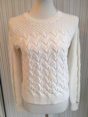 Tommy Hilfiger Jersey de lana blanco puro Algodón