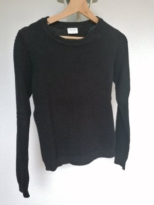 Vila Knitted Sweater black