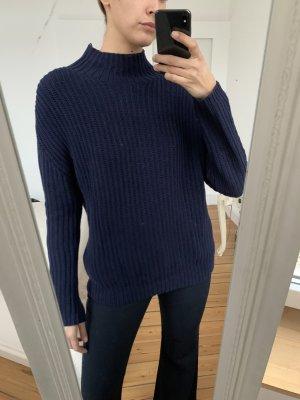 Strickpullover wolle Pullover GAP S dunkelblau turtleneck Rollkragen