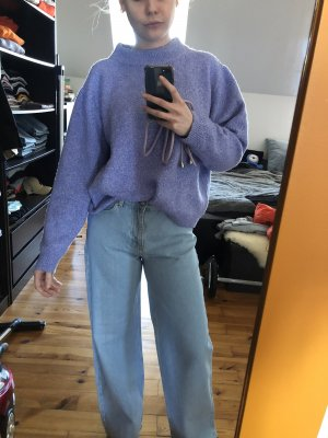 Zara Crewneck Sweater purple-blue violet