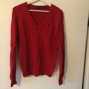 Ralph Lauren Sport V-Neck Sweater red