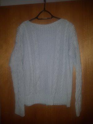Esprit Warkoczowy sweter kremowy