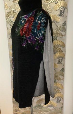 Desigual Długi sweter bez rękawów Wielokolorowy Poliakryl