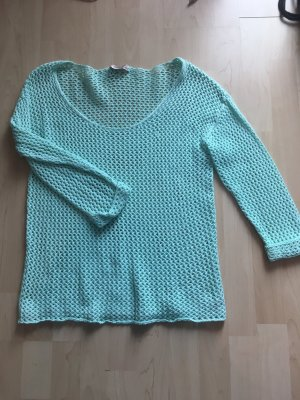 Short Sleeve Knitted Jacket turquoise