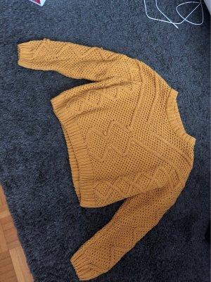 Pull & Bear Gebreide trui geel-goud Oranje