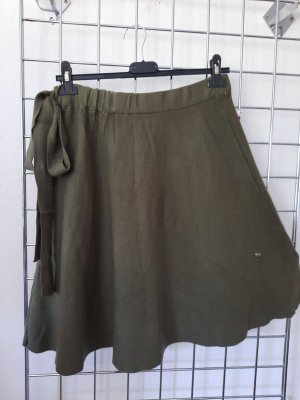Made in Italy Jupe tricotée vert olive