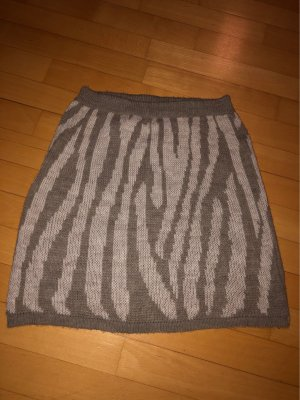 Knitted Skirt taupe-oatmeal