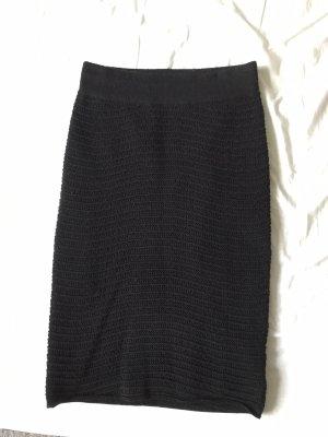 H&M Falda de punto negro