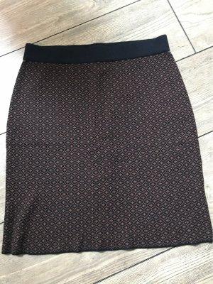 Taifun Jupe tricotée noir-cognac
