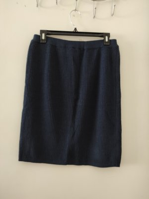 Passport Knitted Skirt dark blue