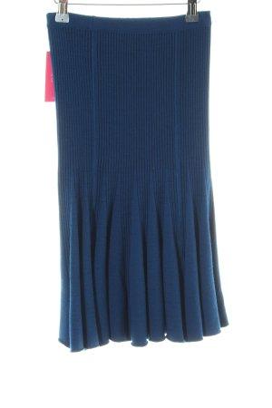 Strickrock dunkelblau-schwarz meliert extravaganter Stil