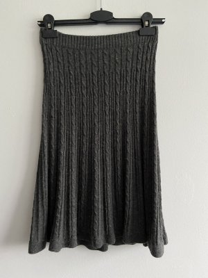 H&M Knitted Skirt anthracite
