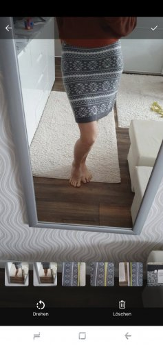 C&A Knitted Skirt white-light grey