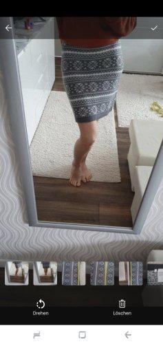 C&A Falda de punto blanco-gris claro