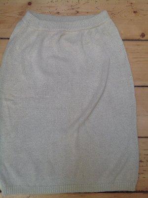 Falda de punto crema Seda