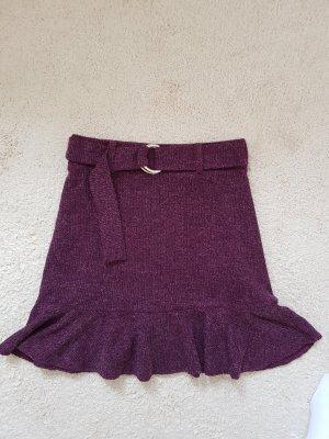 Bershka Knitted Skirt multicolored polyester