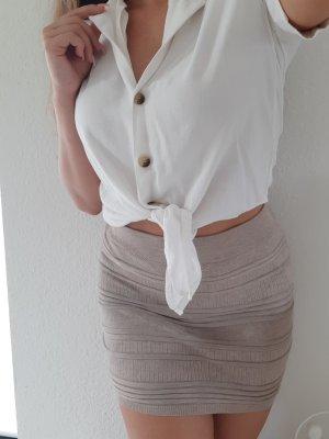 Amisu Spódnica mini jasnobrązowy-brązowy