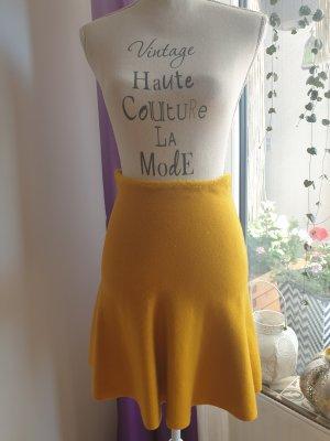 Zara Gebreide rok oker-goud Oranje