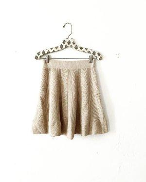 Vintage Gonna lavorata a maglia beige chiaro-beige