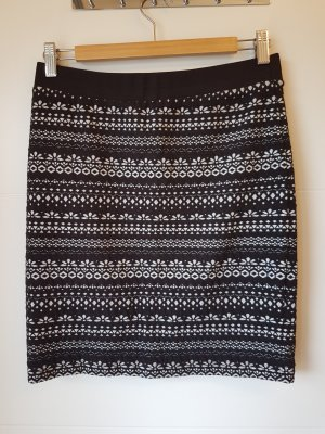 armedangels Knitted Skirt white-black