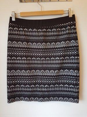 armedangels Jupe tricotée blanc-noir