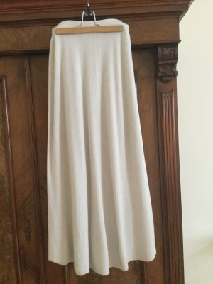 Stefanel Knitted Skirt natural white wool