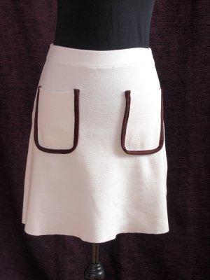 Zara Knit Jupe tricotée blanc cassé