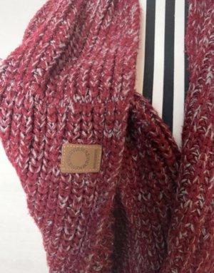 keine Écharpe en tricot bordeau