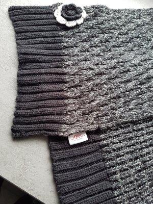 s. Oliver (QS designed) Bufanda de punto negro-gris