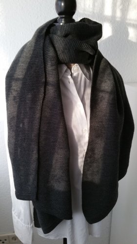 Pieces Knitted Scarf dark grey-anthracite