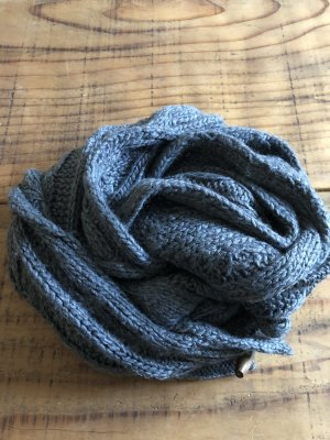 Tchibo / TCM Bufanda de punto gris antracita-gris oscuro