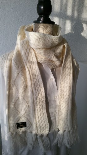 Knitted Scarf natural white-cream