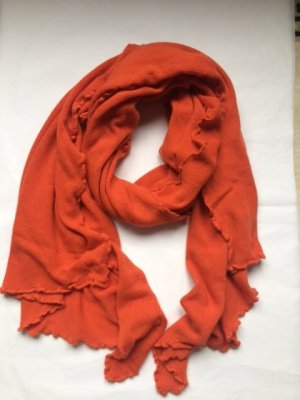 Gebreide sjaal donker oranje Viscose