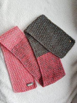 Barts Gebreide sjaal roze-grijs