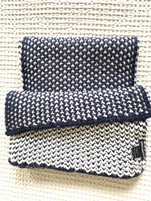 Drykorn Bufanda de punto azul oscuro-beige claro Lana