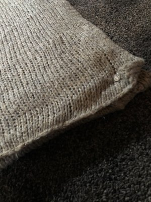 Esprit Knitted Scarf grey brown-taupe