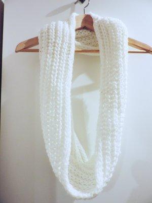 Bufanda de punto blanco-blanco puro