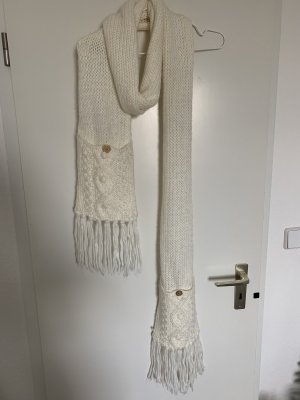 Bijou Brigitte Bufanda de lana blanco puro