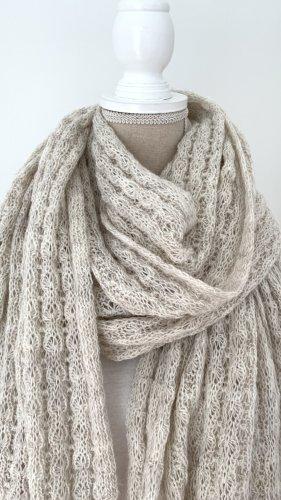 Opus Écharpe en tricot beige clair laine