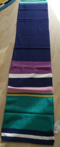 Codello Knitted Scarf blue-brown violet