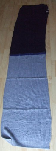 Codello Bufanda de punto azul oscuro-azul claro